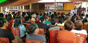 Warga yang datang dari kelurahan se-Kota Kotamobagu untuk mendengarkan Sosialisasi Empat Pilar