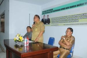 Sekretaris Kota Ir Harold V Lolowang MSc MTh melantik 5 pejabat