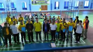 Christo Bless Eman SE bersama jajaran Pemkot Tomohon dan pengurus klub bulutangkis