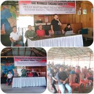 Gandeng KPA, TNI dan Polri, Kesbangpol Mitra Gelar Sosialisasi Dampak Erupsi Gunung Soputan