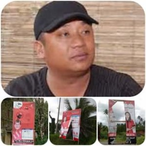 Pengrusakan APK,  Ketua Gema Mitra, Vidy Ngantung,