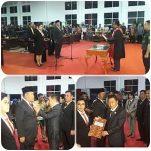 Marty Ole Resmi Dilantik Jadi Ketua DPRD Minahasa Tenggara