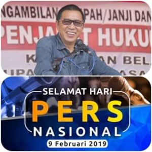 Peringati Hari Pers Nasional 2019, Sumendap: Pers Pilar Penting Untuk Pembangunan Daerah