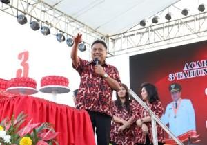 Tiga Tahun Pimpin Sulut, OD-SK Gelar Syukuran