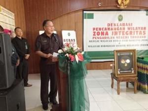 Jefry R Korengkeng ,  Zona Bebas Korupsi, Pengadilan Negeri Tondano,