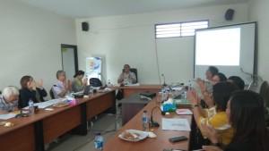 Sekretaris Kota Ir Harold V Lolowang MSc MTh sementara memberikan penjelasan