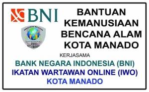 IWO Kota Manado , banjir manado 2019. bank BNI,