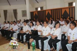 Pejabat di Jajaran Pemkot Tomohon saat menyambut Tim BPK