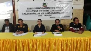 Anggota DPRD Tomohon Ladys F Turang SE mensosialisaiskan Perda 7/2017 tentang Ketertiban Umum di Paslaten Satu dan Paslaten Dua