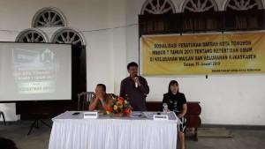 Frets Keles Sosialisasi Perda Tibum di Wailan dan Kakaskasen