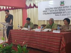 Caroll Senduk sosialisasikan Perda KTR di Kakaskasen Satu dan Kakaskasen Dua