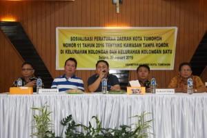 Sosialisasi Peraturan Daerah tentang Kawasan Tanpa Rokok di Kolongan dan Kolongan Satu