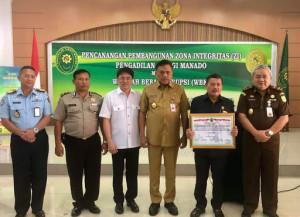 Olly Apresiasi Pencanangan Pembangunan Zona Integritas Pengadilan Tinggi Manado