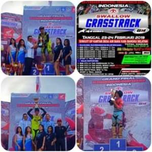 James Sumendap SH, IMI Sulut , Vernando Tulandi , Siro Kanal ,  Grass Track kategori Junior