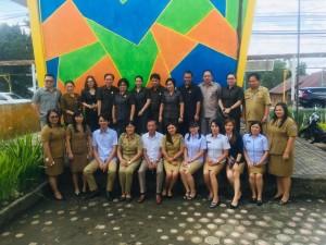 Pimpinan dan anggota DPRD Tomohon bersama jajaran Pemerintah Kecamatan Tomohon Tengah