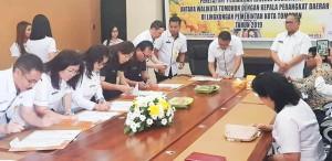 Kepala Perangkat Daerah menandatangani perjanjian kinerja dengan wali kota