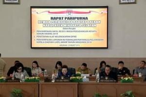 DPRD Minsel Laksanakan Paripurna Penyampaian Reses Masa sidang Kesatu Tahun 2019