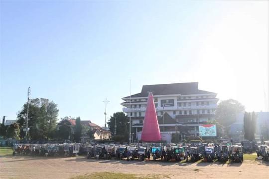 GSVL-Mor Kumpulkan Ratusan Motor Sampah di Lapangan Tikala