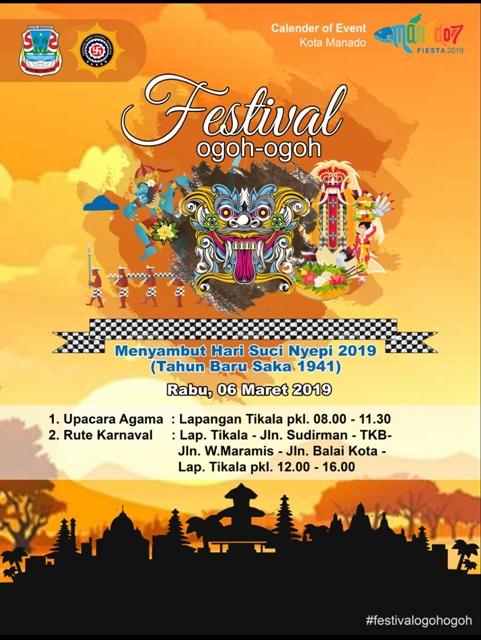 Festival Ogoh-Ogoh 2019, Festival Ogoh-Ogoh manado, Hari Raya Nyepi Tahun Saka 1941, Dinas Parawisata, Lenda Pelealu,