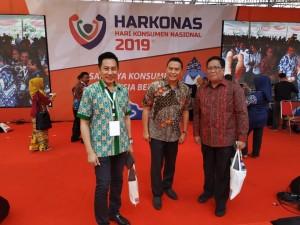 Wali Kota Tomohon dan Kadis Perdagangan dan Perindustrian di kegiatan Harkonas