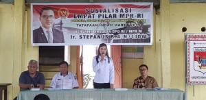 SBAN Liow Sosialisasi Empat Pilar di Tatapaan Indah Minsel