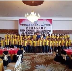 Ikuti Workshop Forkom Sekertariat DPRD se-Sulut, Minsel Juara Bulutangkis Ganda Putra