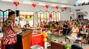 Olly Hadiri Ibadah Syukur HUT ke-63 GMIM Imanuel Koka Mapanget