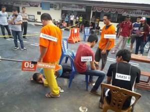 Polres Minahasa Gekar Rekonstruksi Pembunuhan Watulaney Amian