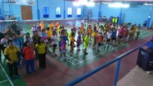 Para peserta yang ikut di Kejuaraan Buluitangkis Tomohon