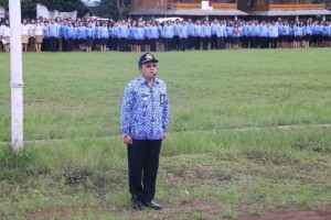 Michael Joseph SSTP MSi, Komandan Upacara Apel Korpri