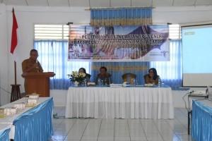 Asisten Perekonomian dan pembangunan mmebuka kegiatan mewakili wali kota