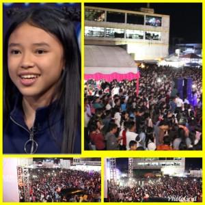 Ribuan warga Kota Tomohon saksikan penampilan Anneth Indonesian Idol Junior