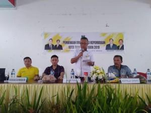 Asisten Perekonomian atas nama Wali Kota Tomohon membuka kegiatan