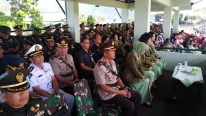 Asisten Kesejahteraan Rakyat Drs Octavianus DS Mandagi menghadiri kegiatan di Mako Rindam/XIII Merdeka