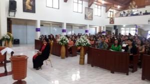Jajaran Pemerintah Kota Tomohon menghadiri Ibadah Pengutusan Pdt Vebri Vicka Rumimper STh