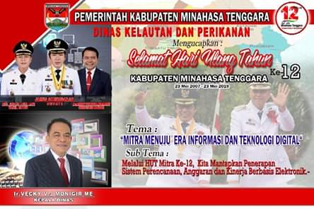 Dinas Kelautan Dan Perikanan Kabupaten Minahasa Tenggara Mengucapkan HUT ke-12
