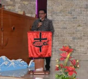 Hadiri Serah Terima Ketua Wilayah Bitung VIII, Wawali Himbau Jemaat Topang Program Pembangunan