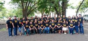 Pengurus dan anggota Rukun Kace Kai Ang saat di Pantai Moinit Senin (20/5/2019)