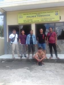 Ancam Anggota Polisi di Medsos, Ridel Ditangkap Resmob Polres Tomohon