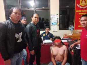 Tersangka yang diamankan Tim URC Totosik