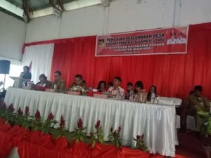 Leilem Utusan Kabupaten Minahasa Dalam Lomba Desa Tingkat Provinsi Sulut.