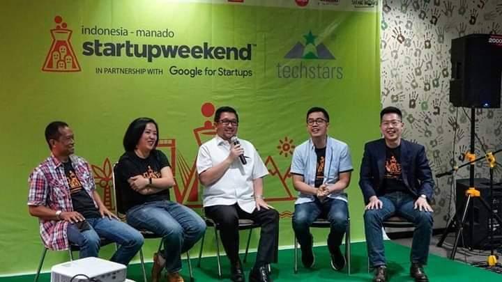 Pertama Kali Digelar di Manado, Wawali Mor Jadi Juri di Acara Startup Weekend