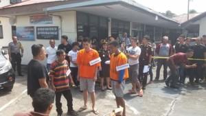 Polres Minahasa Rekonstruksi Kasus Pembunuhan di Pantai Kombi