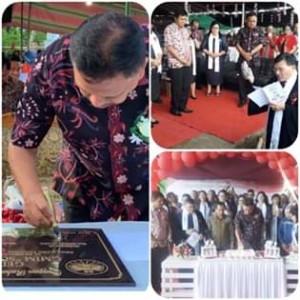 Wabup Legi Dampingi Gubernur OD Hadiri Pentahbisan Gereja GMIM Solafide Rasi Satu