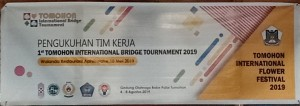 Eman Kukuhkan Tim Kerja Tomohon International Bridge Tournament 2019