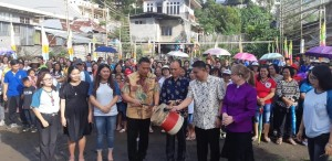 Wali Kota Tomohon membuka rangkaian kegiatan dalam rangka HUT GMIM ''Bukit Moria'' Rurukan