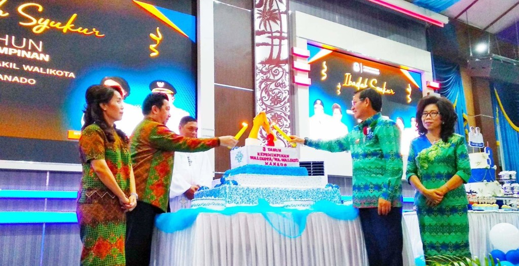 Wali Kota G.S Vicky Lumentut dan Wakil Wali Kota Mor Bastiaan (GSVL-Mor)
