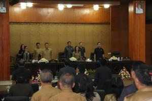 Rapat Paripurna dihadiri jajaran Pemkot Tomohon
