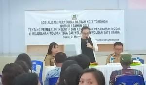 Sosialisasi Perda Nomor 8 tahun 2018 di Woloan Tiga dan Woloan Satu Utara