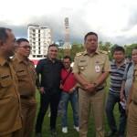 Jelang Laga Kandang Perdana Sulut United, Gubernur Olly Tinjau Stadion Klabat